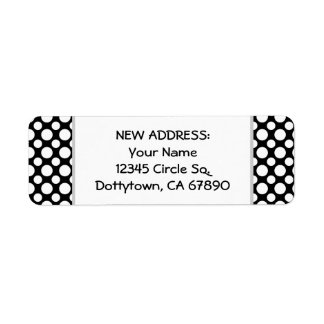 White Polka Dots Custom New Address Label