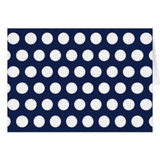 White Polka Dots Greeting Card