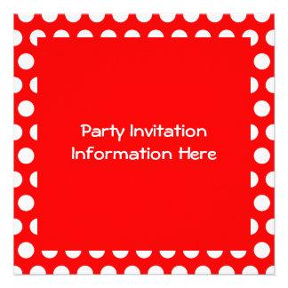 White Polka Dots Invitation