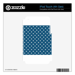 White polka-dots iPod touch 4G decals