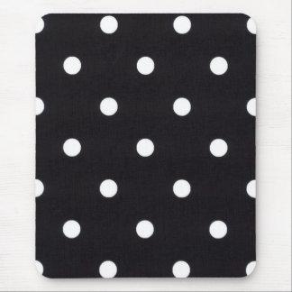 White Polka Dots Mouse Pad