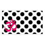 White Polka Dots Om Symbol Business Card
