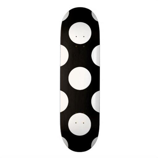 White Polka dots on any color. Skate Board Decks