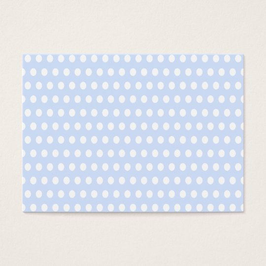 White Polka Dots on Baby Blue Business Card