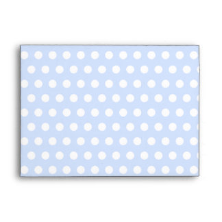 White Polka Dots on Baby Blue Envelope