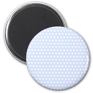 White Polka Dots on Baby Blue Magnet