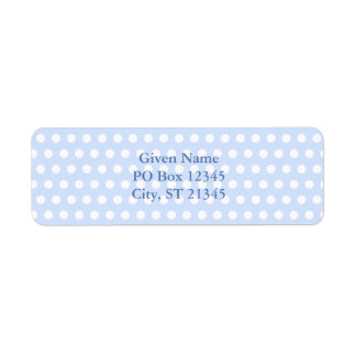 White Polka Dots on Baby Blue Return Address Label