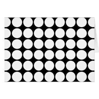White Polka Dots on Black Card