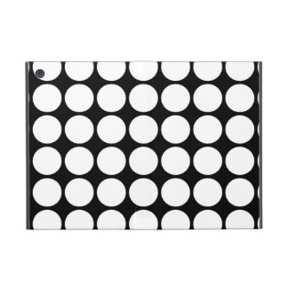 White Polka Dots on Black iPad Mini Cover