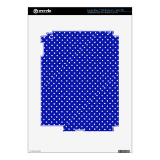 white polka dots on blue iPad 3 decals