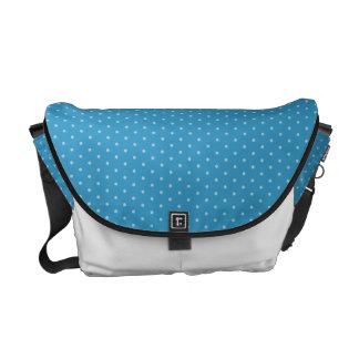 White Polka-dots on Blue Messenger Bag