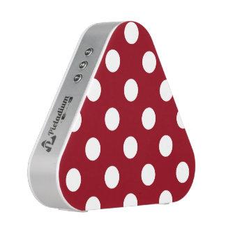 White Polka Dots on Crimson Red Bluetooth Speaker