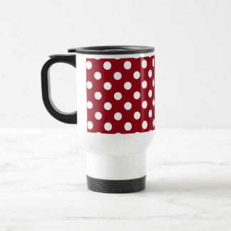 Deep Red White Polka Dots Coffee & Travel Mugs | Zazzle
