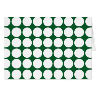 White Polka Dots on Green Card