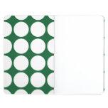 White Polka Dots on Green Journals