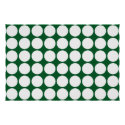 White Polka Dots on Green