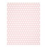 "White Polka Dots on Pale Pink 8.5"" X 11"" Flyer"