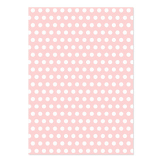 White Polka Dots on Pale Pink Business Cards