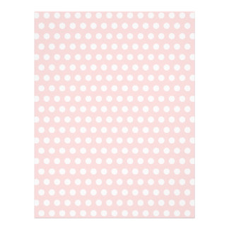 White Polka Dots on Pale Pink Flyer