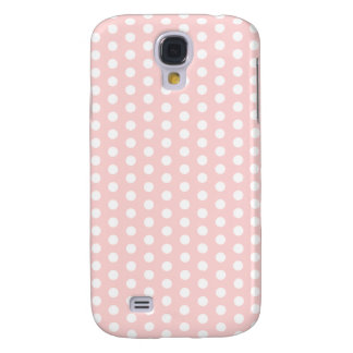 White Polka Dots on Pale Pink Galaxy S4 Cover