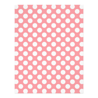 White polka dots on pink background letterhead