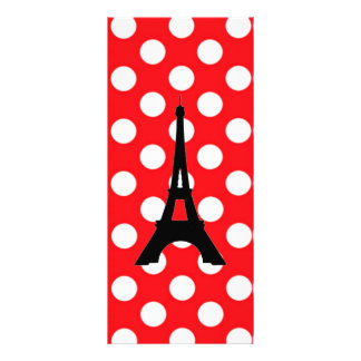 White polka Dots On Red Background Bookmark Customized Rack Card