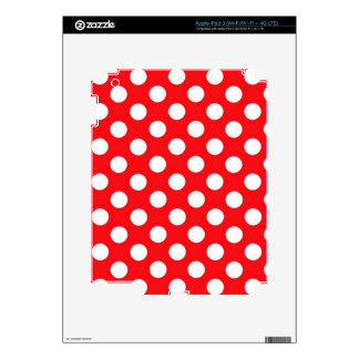 White polka Dots On Red Background iPad 3 Decal