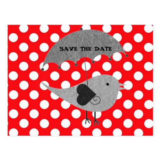White polka Dots On Red Background Postcard
