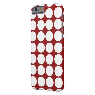 White Polka Dots on Red Barely There iPhone 6 Case