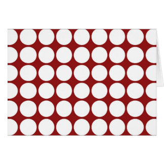 White Polka Dots on Red Card