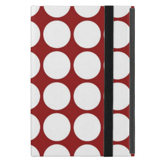 White Polka Dots on Red Case For iPad Mini