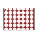 White Polka Dots on Red Covers For iPad Mini