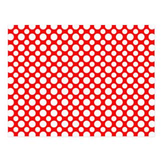 White Polka-Dots on Red Custom Postcard