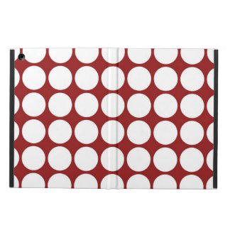 White Polka Dots on Red iPad Air Cover