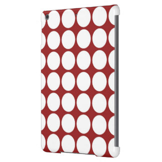White Polka Dots on Red iPad Air Covers