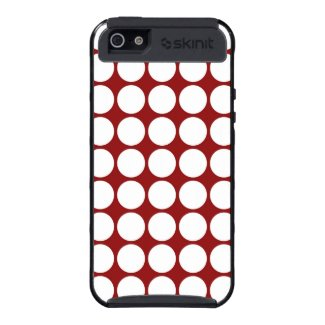 White Polka Dots on Red iPhone 5 Cover