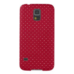 White Polka Dots on Red patterned Case For Galaxy S5