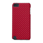 White Polka Dots on Red patterned iPod Touch (5th Generation) Cover