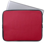 White Polka Dots on Red patterned Laptop Sleeve
