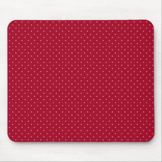 White Polka Dots on Red patterned Mouse Pad