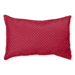 White Polka Dots on Red patterned Pet Bed