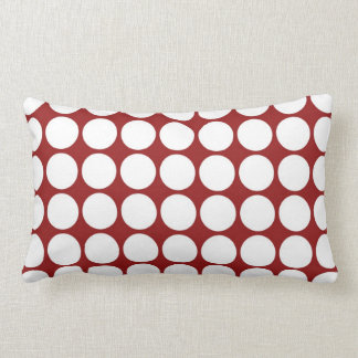 White Polka Dots on Red Pillows
