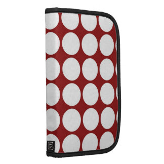 White Polka Dots on Red Planners