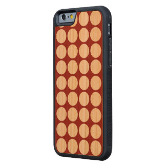 White Polka Dots on Red Carved® Cherry iPhone 6 Bumper