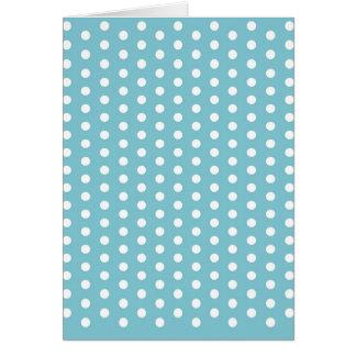 White Polka Dots on Seafoam Green Pattern Gifts Greeting Card
