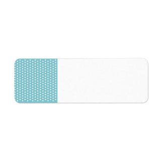 White Polka Dots on Seafoam Green Pattern Gifts Return Address Label