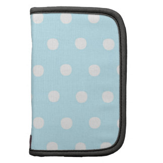 White Polka Dots on Sky Blue Planners