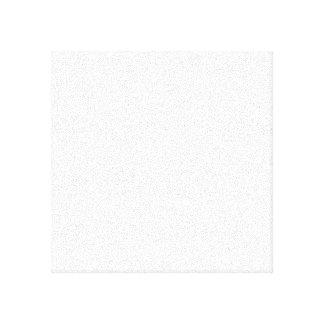 White Polka Dots on Transparent Background Canvas Print