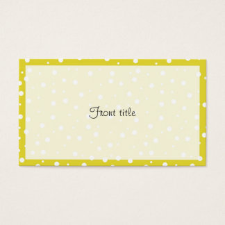 White Polka Dots on Yellow Business Card