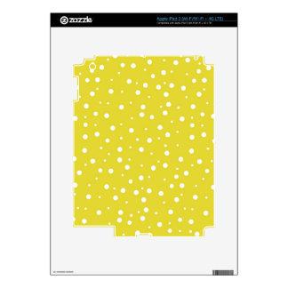 White Polka Dots on Yellow Skin For iPad 3